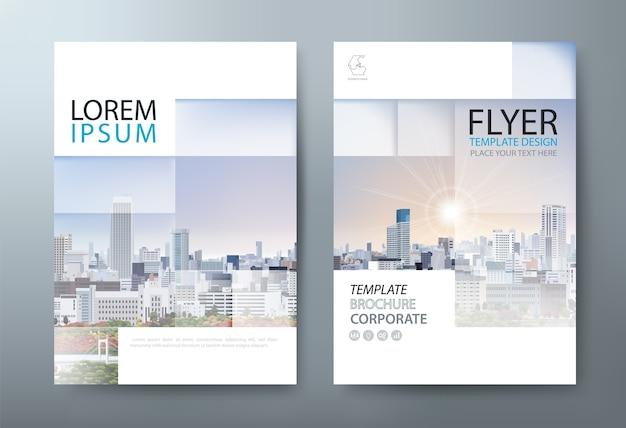 Cubierta de negocios, plantilla de flyer. diseño en tamaño a4.