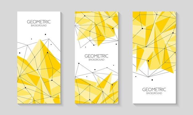 Cubierta de polietileno baja plantilla futurista abstracta poligonal