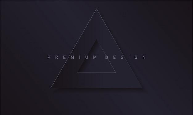 Cubierta premium moderna abstracta con fondo negro de papel triángulo