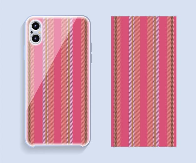 Cubierta para teléfono móvil. patrón de caja de teléfono inteligente de plantilla.