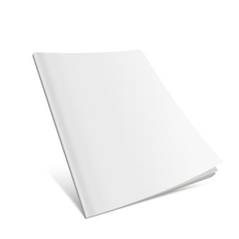 Cubierta voladora en blanco de la revista