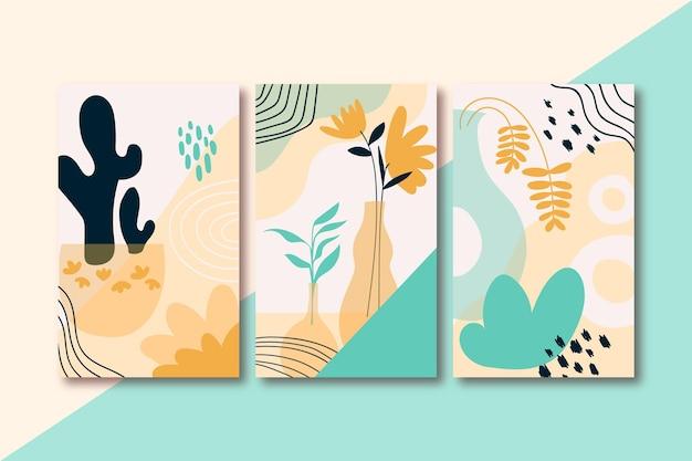 Cubiertas abstractas dibujadas a mano
