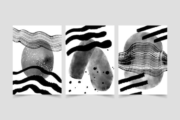 Cubiertas de acuarela abstracta incoloras