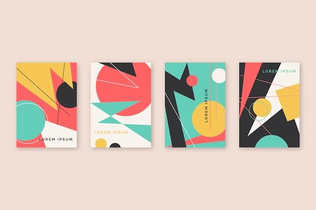 Cubiertas coloridas abstractas