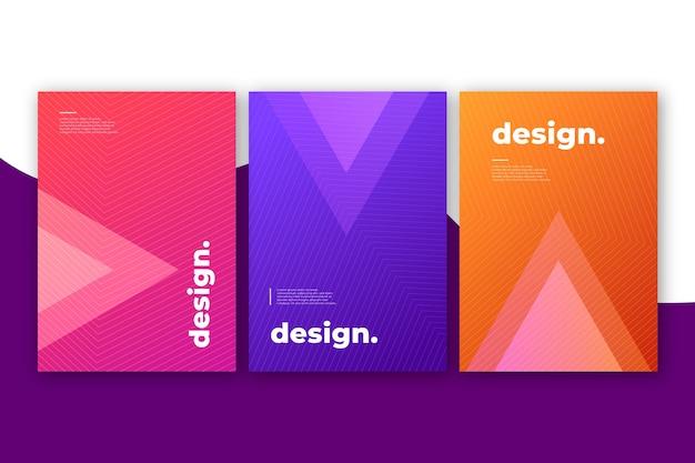 Cubiertas coloridas de diseño abstracto