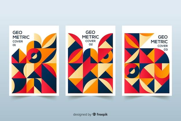 Cubiertas de diseño en estilo geométrico.