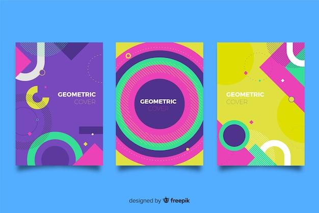 Cubiertas con diseño geométrico.