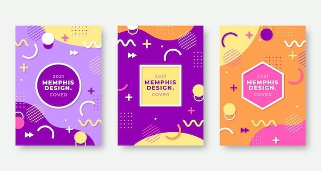 Cubiertas de diseño de memphis