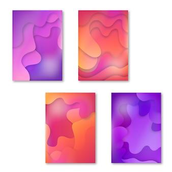 Cubiertas fluidas abstractas