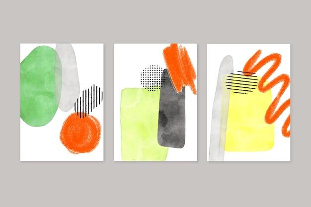 Cubiertas de formas abstractas de acuarela