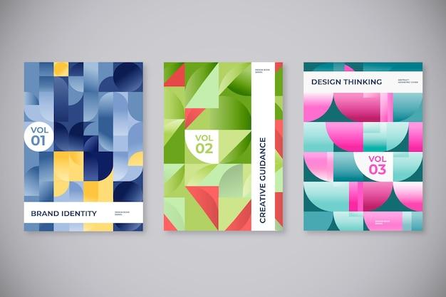 Cubiertas de formas geométricas abstractas