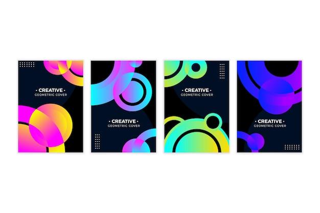 Cubiertas de formas geométricas gradientes