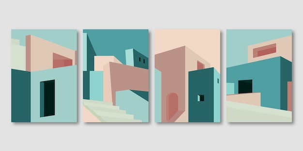 Cubiertas minimalistas de arquitectura