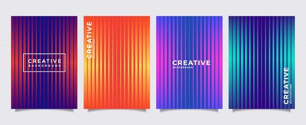 Cubiertas mínimas de diseño. fondo de diseño moderno. gradientes frescos