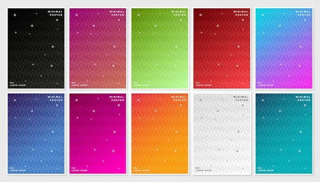 Cubiertas mínimas, fondo geométrico abstracto