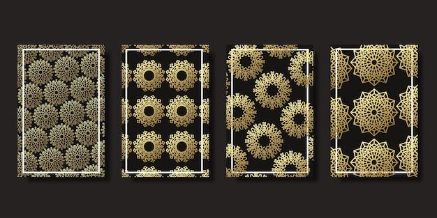 Cubiertas ornamentales de ramadán kareem aisladas realistas