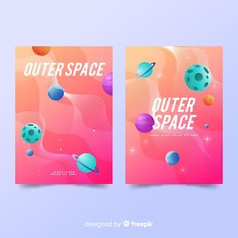 Cubiertas con tema espacial