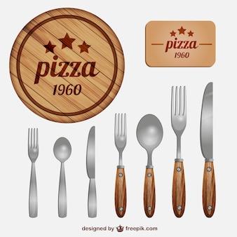 Cubiertos de restaurante italiano