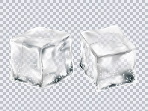 Cubitos de hielo transparentes