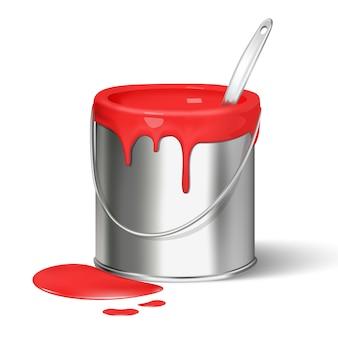 Cubo de pintura para renovación