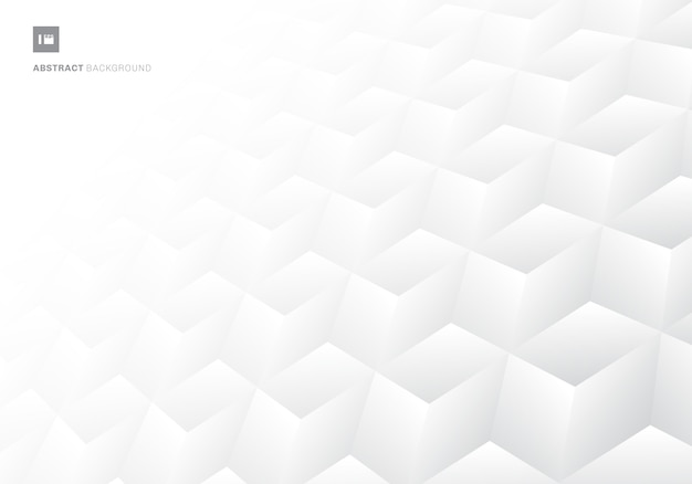 Cubos 3d patrón realista fondo blanco.