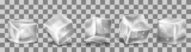 Cubos de hielo 3d vector realista