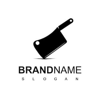 Cuchillo de carnicero logo diseño inspiracion
