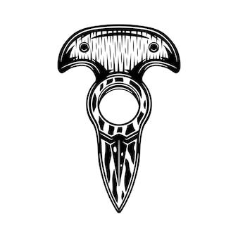 Cuchillo de nudillos retro vintage. arte grafico. ilustración de vector.