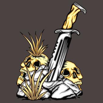 Cuchillo en piedra