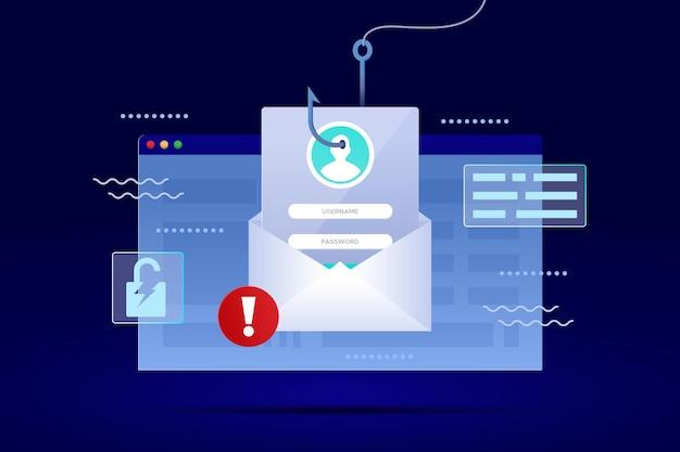 Cuenta de phishing vector gratuito