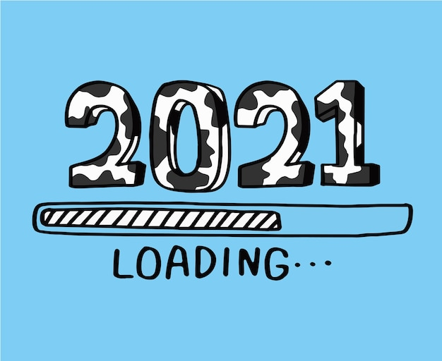 Cuenta regresiva para el año nuevo 2021, año del buey 2021