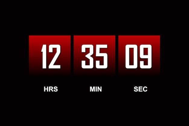 Cuenta regresiva plantilla de reloj digital de fondo del temporizador para que venga pronto.