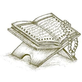 Las cuentas de oración y el corán
