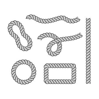 Cuerda para decoración y revestimiento, nudos de cuerda retorcida náutica.
