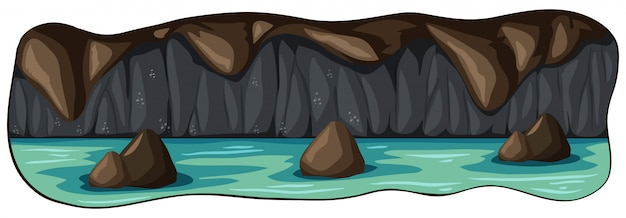 Una cueva subterránea del río subterráneo