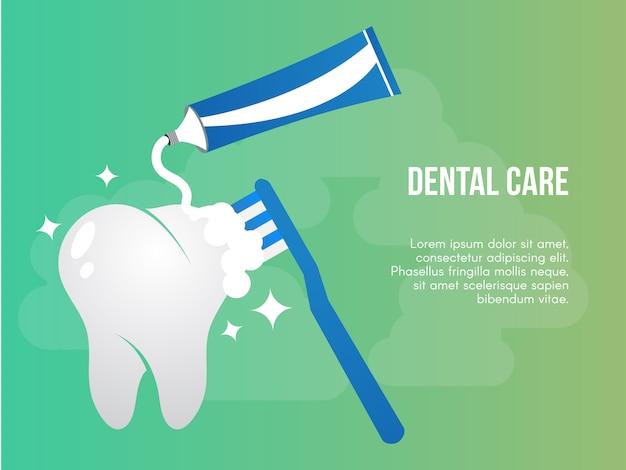 Cuidado dental conceptual