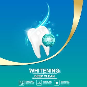 Cuidado dental y dientes en concepto de fondo. Vector Premium
