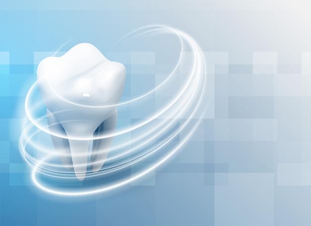 Cuidado dental de los dientes fondo médico.