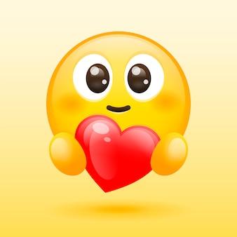 Cuidado emoji con corazón rojo