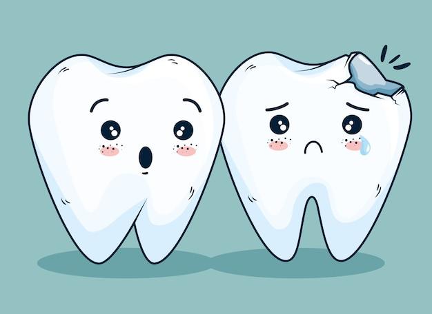 Cuidado de la higiene de los dientes con tratamiento médico.