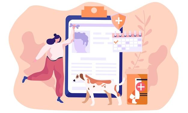 Cuidado de mascotas, gatos y perros de salud médica y otros animales.