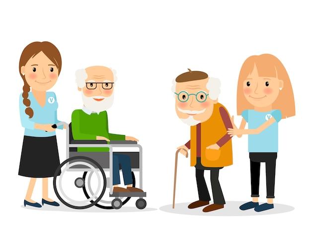 Cuidando a las personas mayores