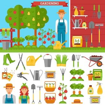 Cultivo de verduras y frutas en el jardín