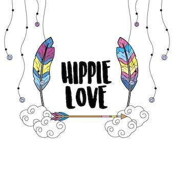 Cultura hippie de paz y amor al estilo de vida