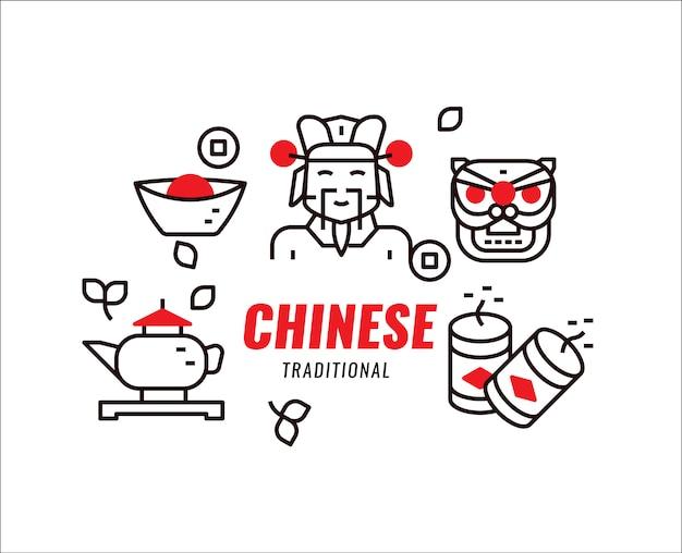 Cultura tradicional china, objeto y fe.