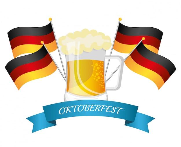 Culturas de alemania y diseño del festival de oktober.