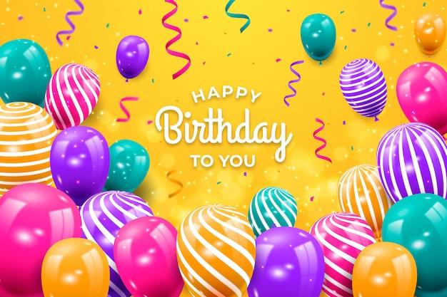 Cumpleaños con globos realistas