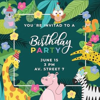 Cumpleaños en la jungla