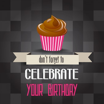 Cupcake de cumpleaños con mensaje