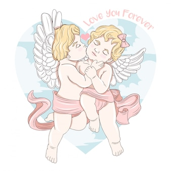 Cupid kiss love forever